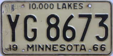 1966 Minnesota (Truck) license plate for sale