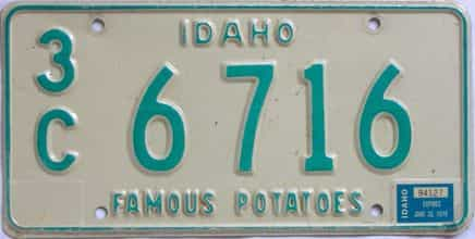 1976 Idaho (Single) license plate for sale