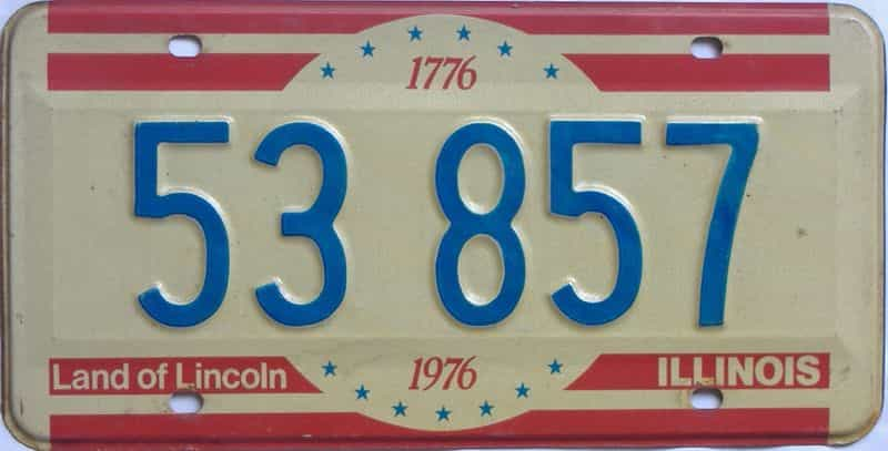 1976 Illinois  (Single) license plate for sale
