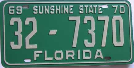 1970 Florida license plate for sale
