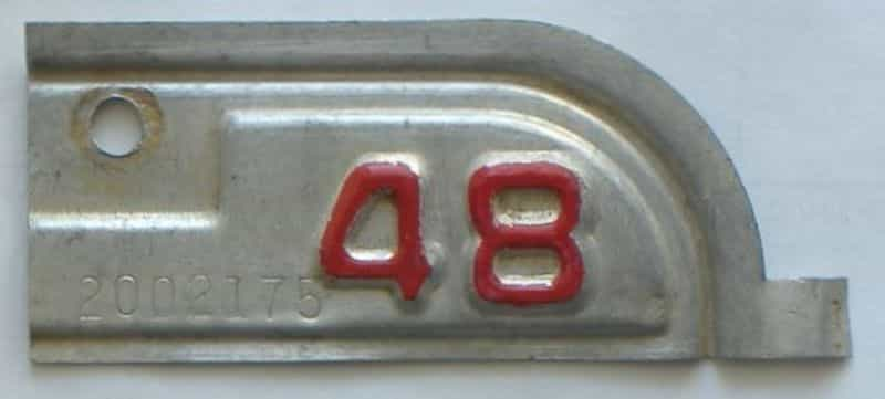 1948 California  (Single) license plate for sale