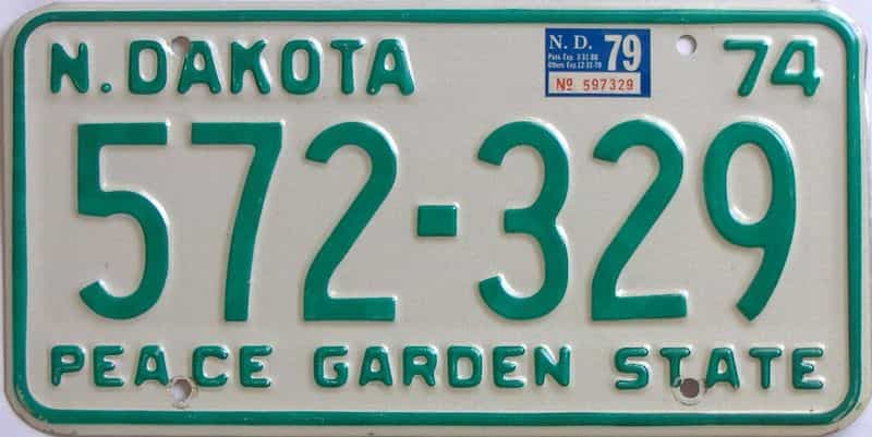 1979 North Dakota  (Natural Single) license plate for sale