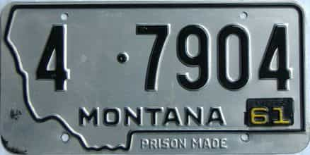 1962 Montana (Single) license plate for sale