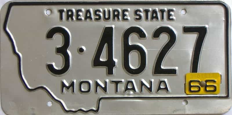 1966 Montana  (Single) license plate for sale