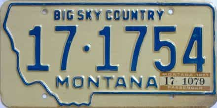 1971 Montana (Single) license plate for sale
