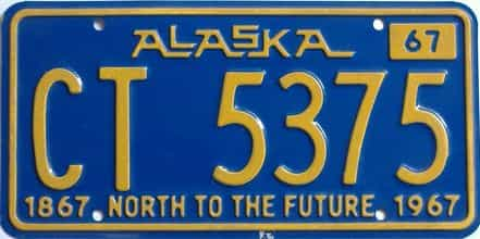 1967 Alaska  (Non Passenger) license plate for sale