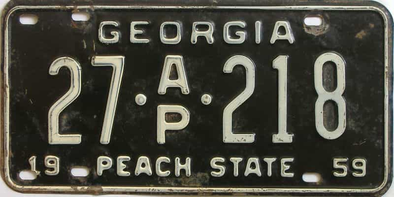 YOM 1959 Georgia (Bartow) (Truck) license plate for sale