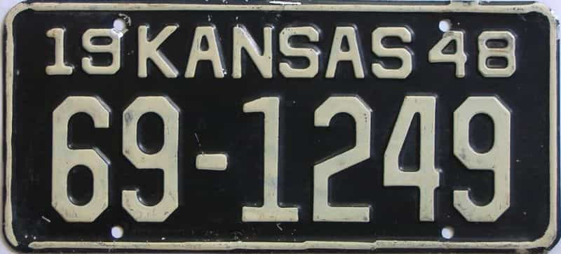 1948 Kansas license plate for sale