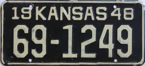 1948 Kansas license plate for sale