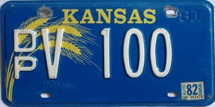 1982 Kansas license plate for sale