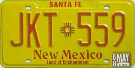 1988 New Mexico license plate for sale