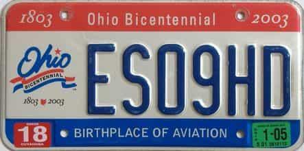 2005 Ohio (Single) license plate for sale