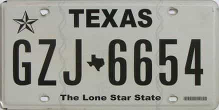 Texas license plate for sale