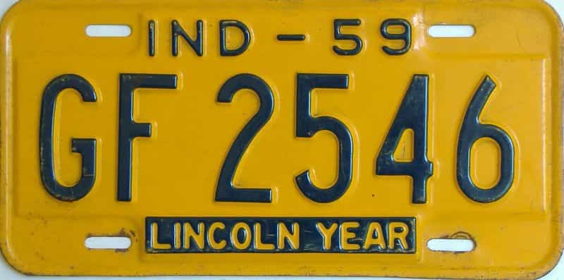 1959 Indiana license plate for sale