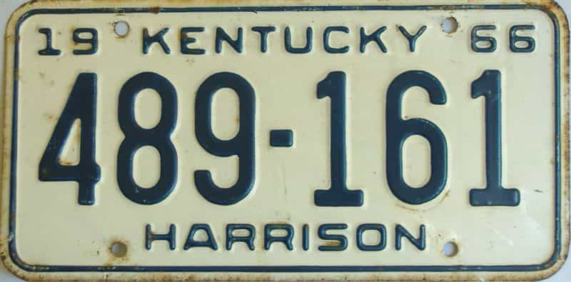 1966 Kentucky license plate for sale