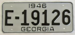 Actual Restored License Plate, After