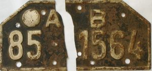 Actual Restored License Plate, Before