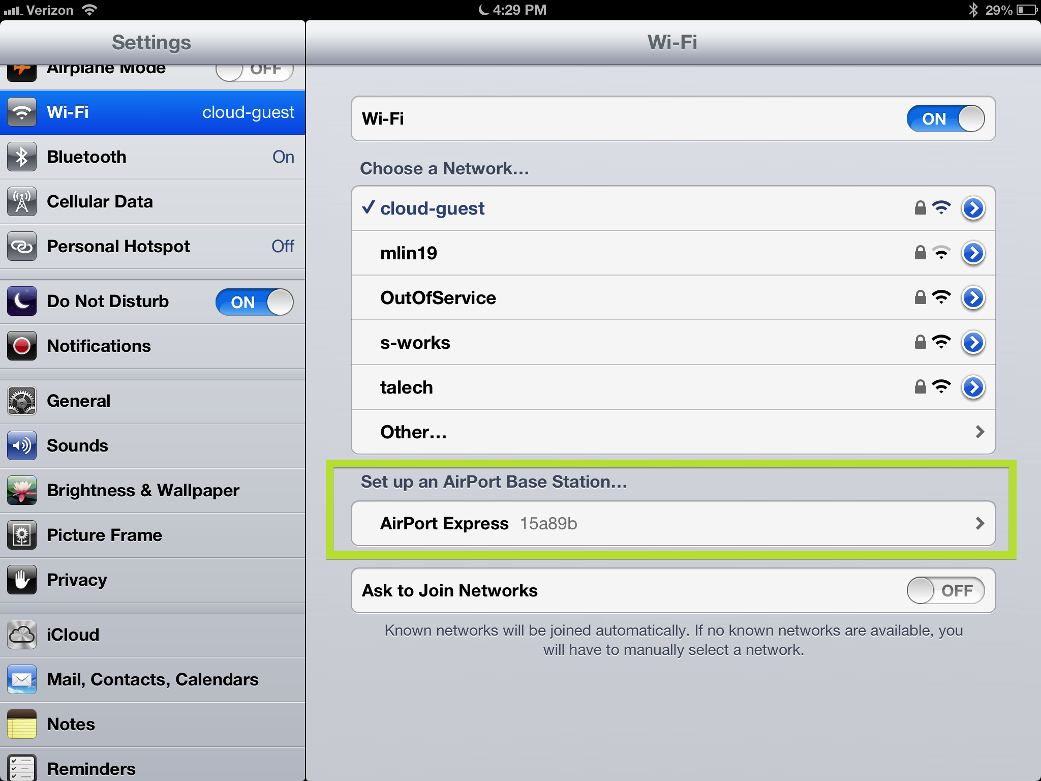setup airport express with iphone