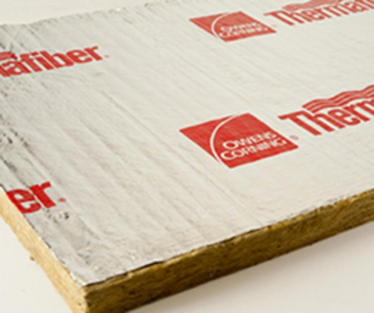 1 in x 51 3 4 in x 39 3 4 in owens corning thermafiber for 2 mineral wool insulation