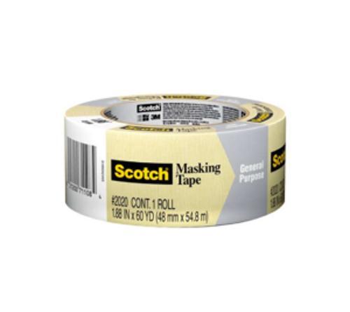1 1/2 in x 60 yd 3M Scotch 2020 General Purpose Masking Tape