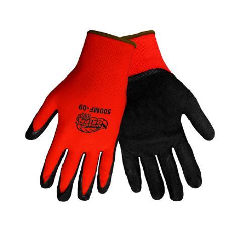 Global Glove Tsunami Grip 500MF Black Mach Finish Nitrile Glove- 2 XL
