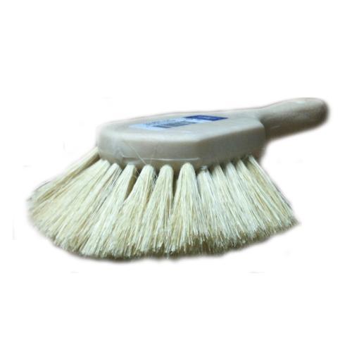 8 in Magnolia Brush Short Handle Brush - White Tampico