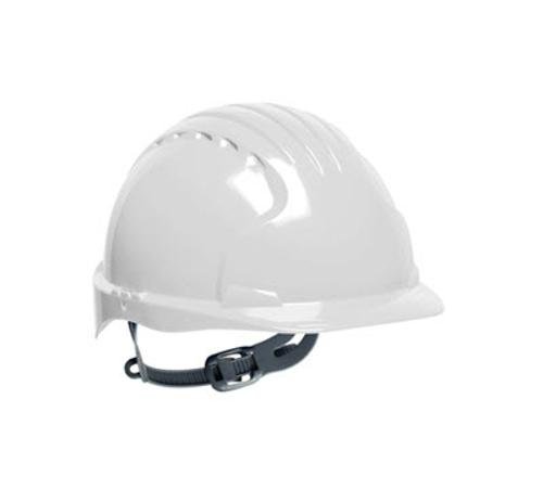 PIP Evolution Deluxe 6151 Cap Style Hard Hat w/ 6-Point Polyester Suspension and Wheel Ratchet Adjustment - White