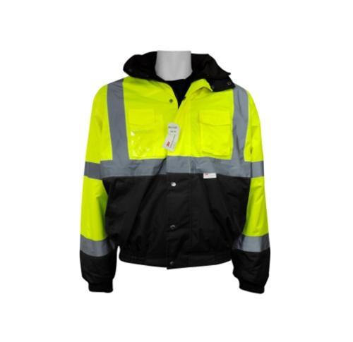 Global Glove ANSI Class III Winter Bomber Style Jacket w/ Fleece Lining - XL