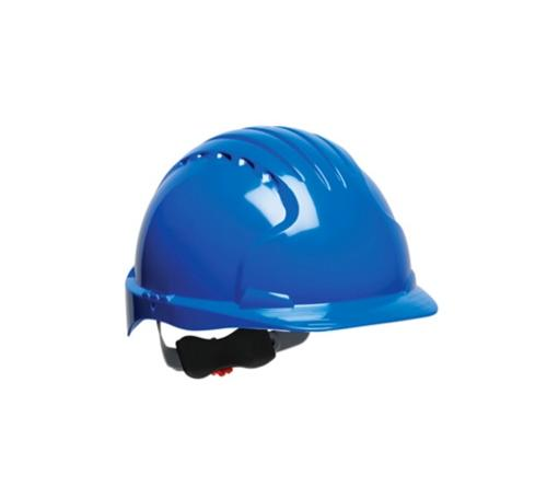 PIP Evolution Deluxe 6151 Cap Style Hard Hat w/ 6-Point Polyester Suspension and Wheel Ratchet Adjustment - Blue