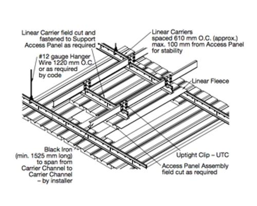 15/16 in x 1 11/16 in x 12 ft Armstrong WoodWorks Grid System HD Linear Carriers for 6 in Modules - 5371