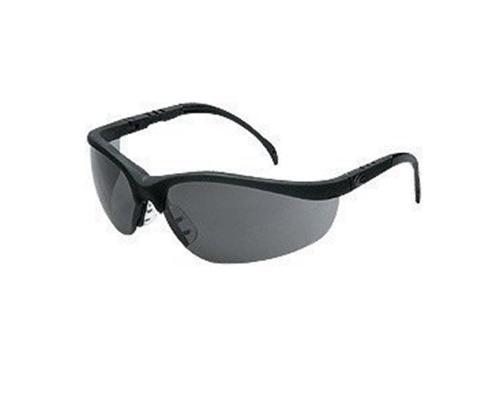 MCR Crews Klondike Plus Series Safety Glasses - Matte Black Frame / Gray Lens