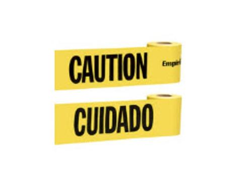 3 in x 200 ft Empire Level Yellow Caution Tape - English & Spanish