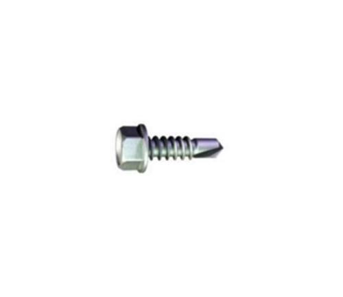3/4 in x #10 Grabber Hex Head Clear Zinc S-12 Drivall Screw