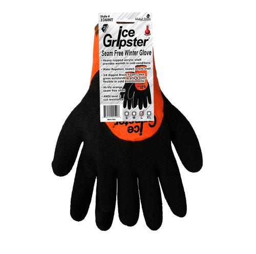 Global Glove Ice Gripster High-Visibility Low Temperature Glove - Large