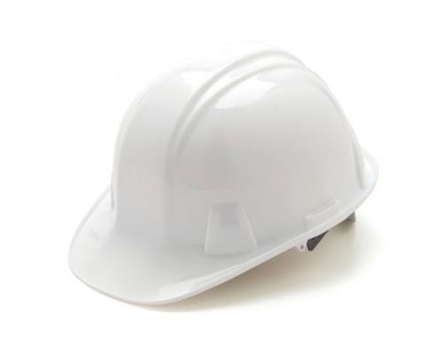 Pyramex SL SERIES Cap Style Hard Hat w/ 6-Point Ratchet - White