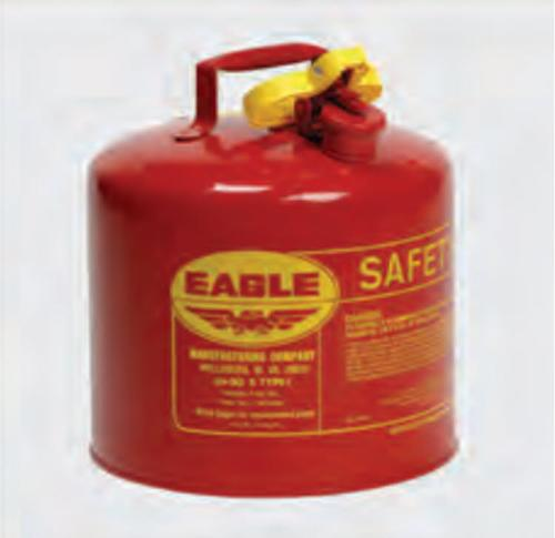Eagle Type I Red Gas Safety Can w/ Funnel - 5 Gallon