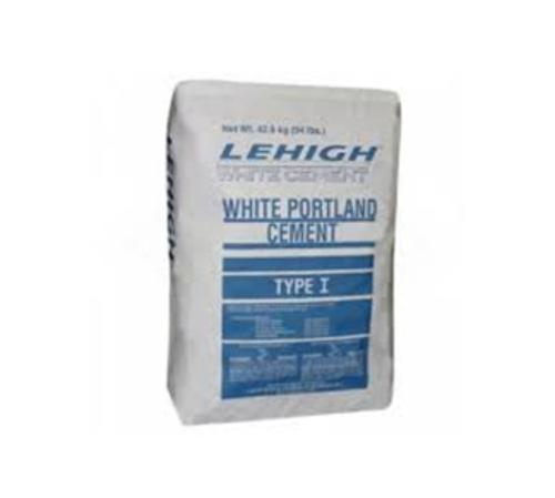 Lehigh White Type I Portland Cement - 94 lb Bags