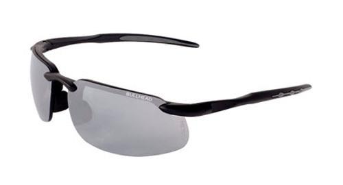 Bullhead Swordfish Safety Glasses -  Matte Black Frame/Silver Lens