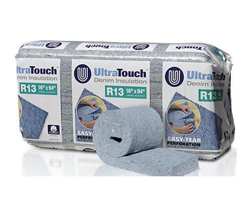 R13 3 1/2 in x 24 1/4 in x 94 in Bonded Logic UltraTouch Unfaced Insulation
