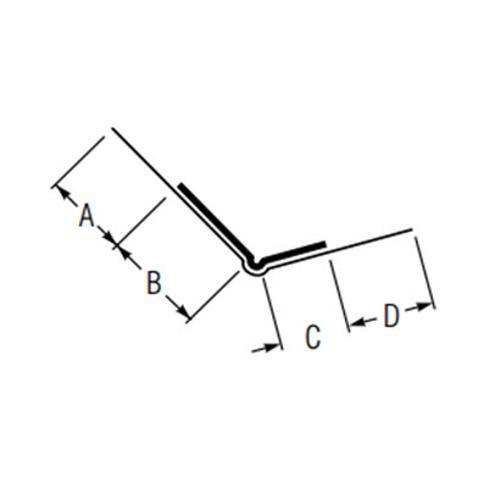 9 ft USG Beadex Paper Faced Metal Offset Outside Corner, Tape-On Bead