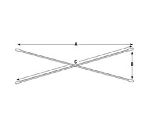 10 ft x 2 ft Vanguard Scaffold Cross Brace