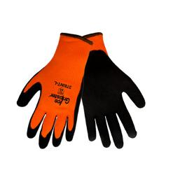 Global Gloves Ice Gripster 378INT Orange & Black Water Repellent Glove - Large