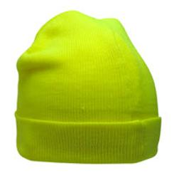 Global Glove FrogWear High Visibility Lime Winter Stretch Hat