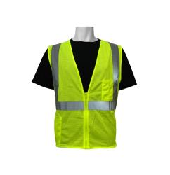 Global Glove FrogWear ANSI Class 2 Polyester Mesh Lime Safety Vest - Small
