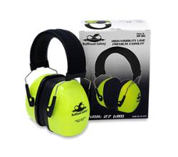 Bullhead Safety HP-M2 Premium Foldable Lime Green Earmuff