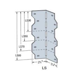 2 1/4 in x 2 1/4 in x 7 7/8 in x 18 Gauge 43 mil Simpson Strong-Tie LS Skewable L Angle