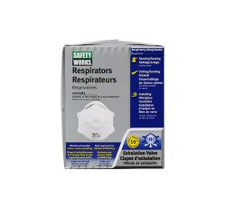 PIP Safety Works N95 Harmful Dust Disposable Respirator with Exhalation Valve - 10 Pack