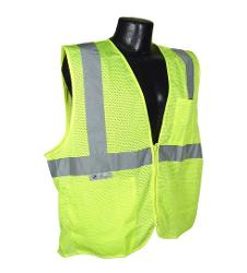 Radians Economy Type R Class 2 Lime Safety Vest w/ Zipper - Large