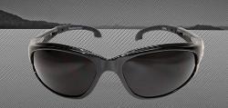 Edge Eyewear Dakura Safety Glasses - Black Frame/Non-Polarized Smoke Lens
