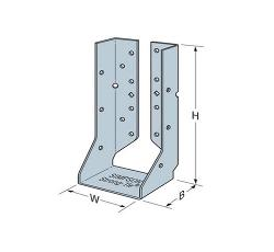 3 9/16 in x 3 in x 9 in x 14 Gauge 68 mil Simpson Strong-Tie HUCQ Heavy Concealed Flange Face-Mount Joist Hanger w/ SDS Screws